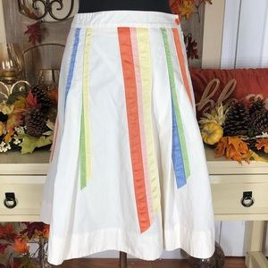 Anthropologie Lithe  Womens a-line skirt
